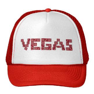 VEGAS Red Dice Cap Trucker Hat