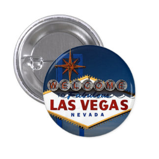 Vegas Sign Dusk 3 Cm Round Badge