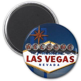 Vegas Sign Dusk Fridge Magnets
