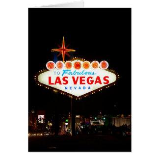 Vegas Sign Lit Up Card