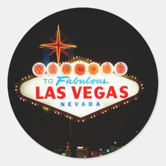 Vegas Sign Lit Up Sticker