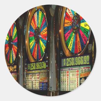 Vegas Slots Round Sticker