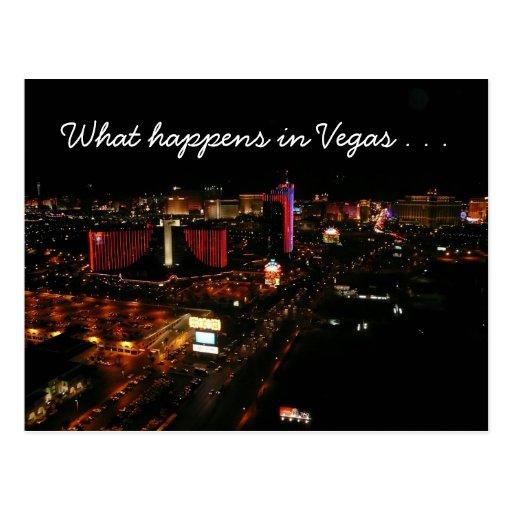 vegas strip happenings post cards