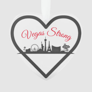 Vegas Strong Acrylic Holiday Christmas Ornament