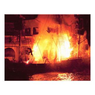 Vegas - Treasure Island - Explosion Abandon ship Personalized Flyer