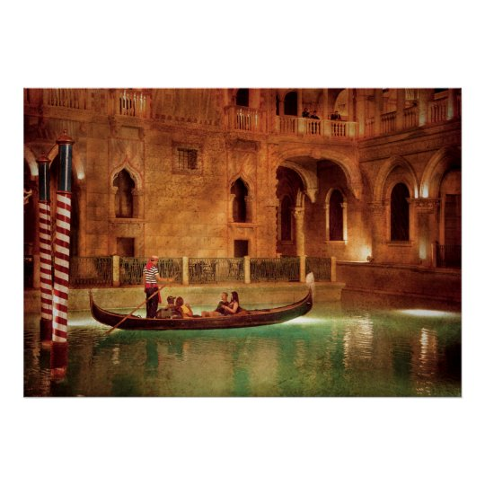 Vegas - Venetian - The Gondola's of Venice Poster