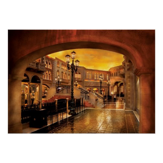 Vegas - Venetian - The streets of Venice Poster