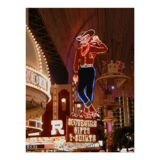 Vegas Vic Vector Graphic Poster
