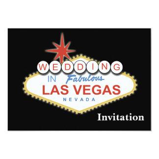 "vegas wedding invitation 5"" x 7"" invitation card"