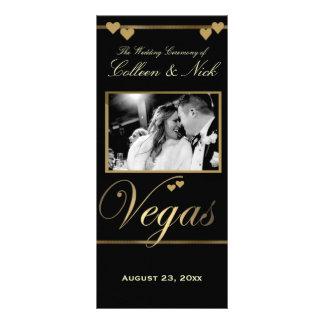 Vegas Wedding Program Template Rack Card