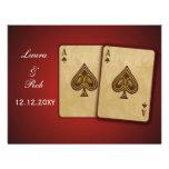 Vegas wedding rsvp cards announcement