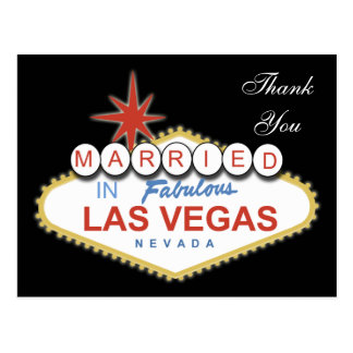 Vegas Wedding ThankYou Cards Postcard