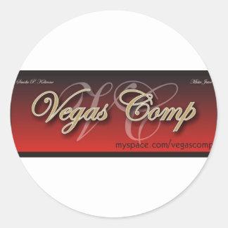 vegascomp round sticker