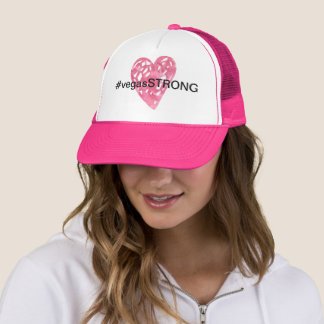 #vegasSTRONG Watercolor Heart Tribute Hat Cap