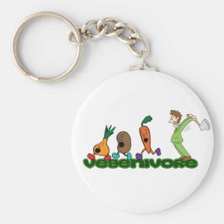 Vegenivore Basic Round Button Key Ring