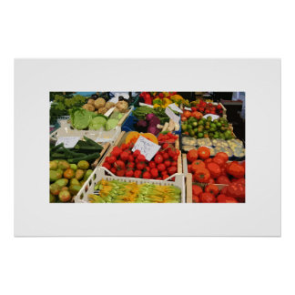 vegetable and fruit stand poster