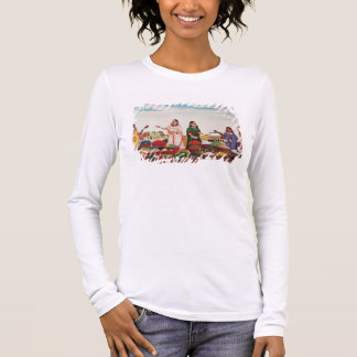 Vegetable and Spice Market at Benares, c.1840 (gou Long Sleeve T-Shirt
