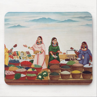 Vegetable and Spice Market at Benares, c.1840 (gou Mouse Mat