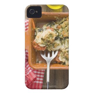Vegetable bake with potatoes, tomatoes, leeks iPhone 4 covers