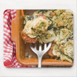 Vegetable bake with potatoes, tomatoes, leeks mouse mat