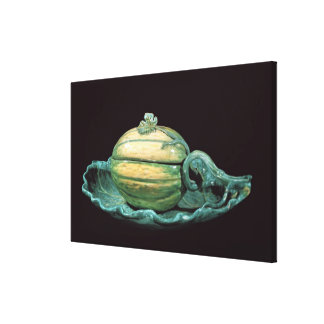 Vegetable dish in the form of a pumpkin canvas print