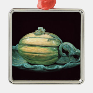 Vegetable dish in the form of a pumpkin christmas ornament