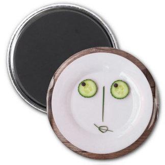Vegetable Face 6 Cm Round Magnet