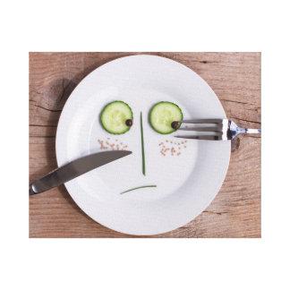 Vegetable Face Canvas Prints