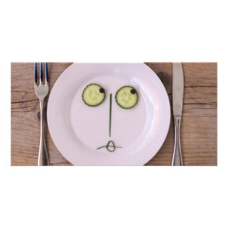 Vegetable Face Personalised Photo Card