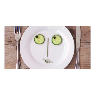 Vegetable Face Personalized Photo Card