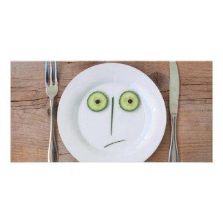 Vegetable Face Customized Photo Card