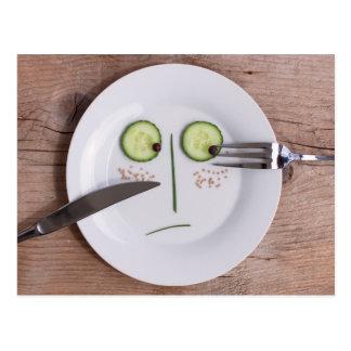 Vegetable Face Postcard