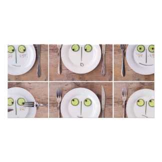 Vegetable Faces Picture Card