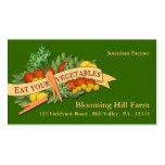 Vegetable Farm Market Agriculture Business Card