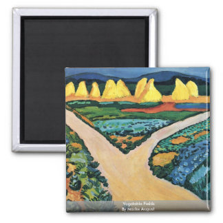 Vegetable Fields By Macke August Square Magnet