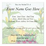 "Vegetable Garden 5.25"" Square Invitation Card"