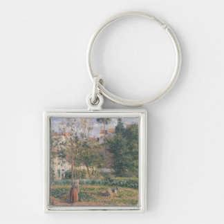 Vegetable Garden at the Hermitage Silver-Colored Square Key Ring