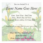 Vegetable Garden Custom Invitations
