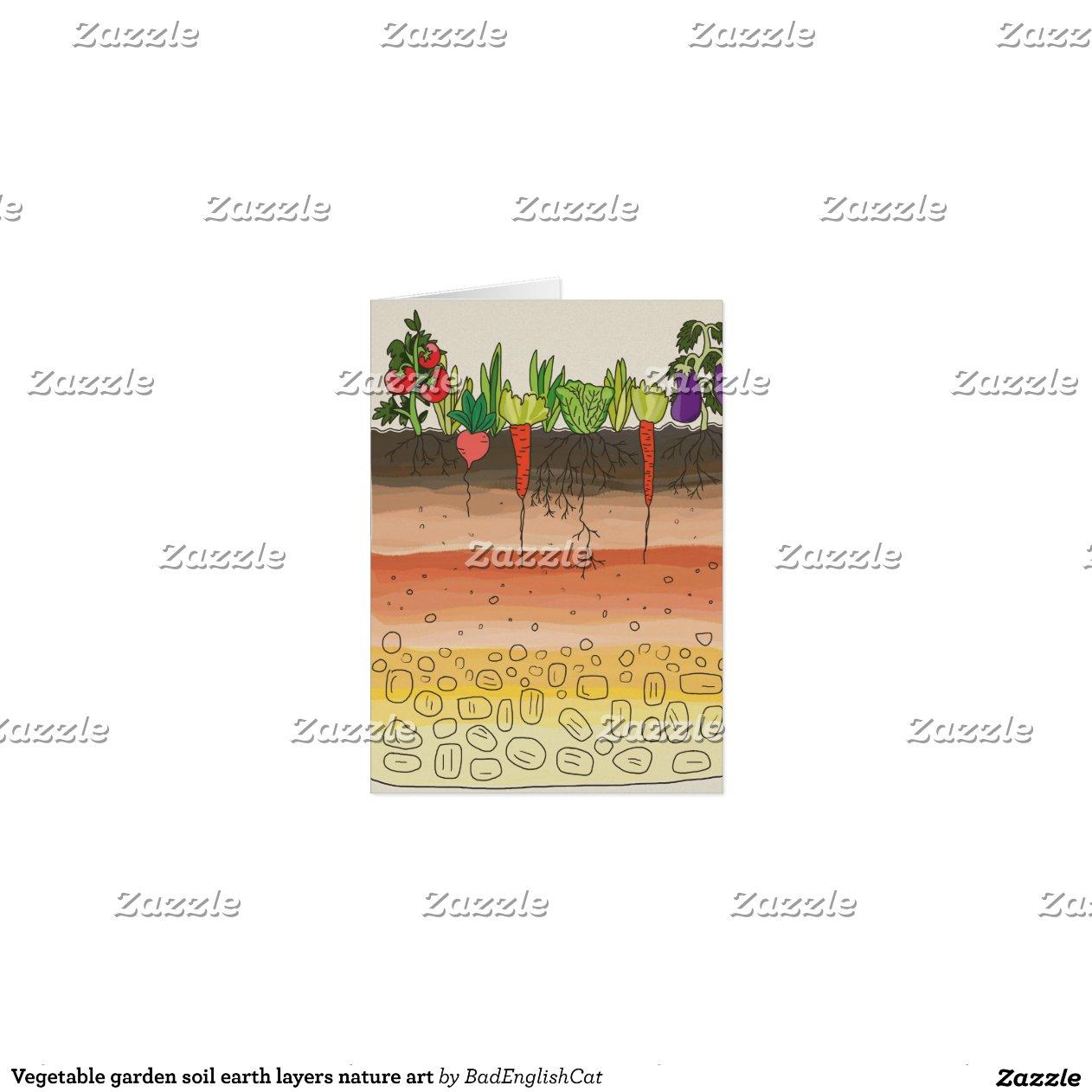 Vegetable garden soil earth layers nature art greeting - Nature s care organic garden soil ...
