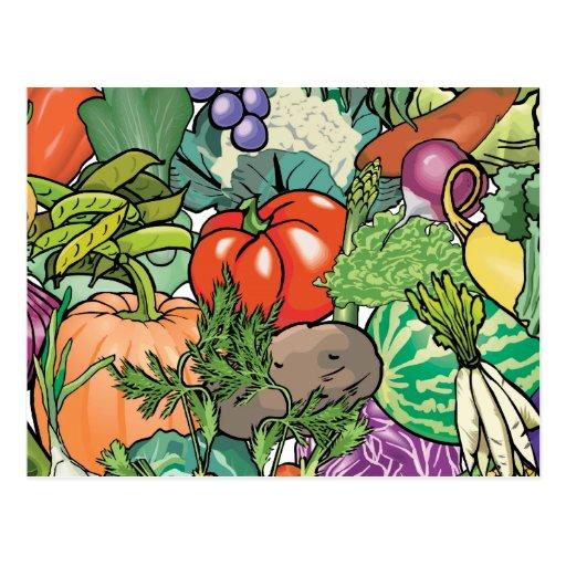 Vegetable Gardener Post Cards