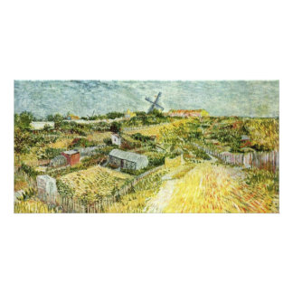 Vegetable Gardens In Montmartre Photo Card Template