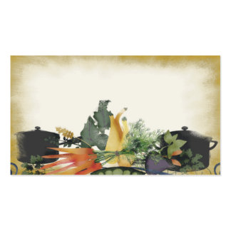 vegetable herb cooking pot business card