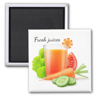 Vegetable juices square magnet
