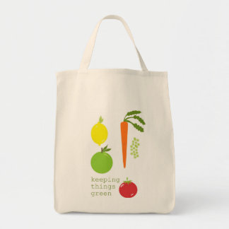 Vegetable Organic Reusable Grocery Tote Grocery Tote Bag