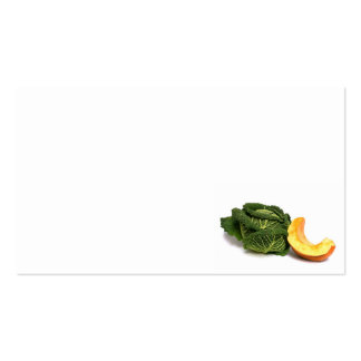 vegetable pack of standard business cards