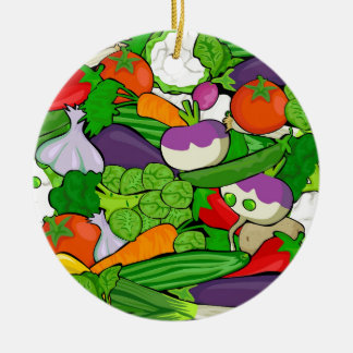Vegetable Pattern Christmas Ornament