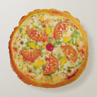 Vegetable Pizza Round Cushion