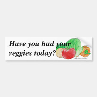 Vegetable Produce Bumper Sticker