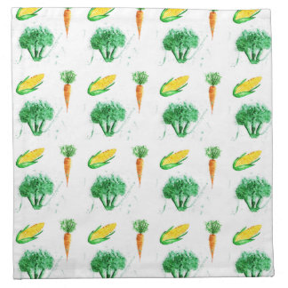 Vegetable seamless watercolor pattern napkin