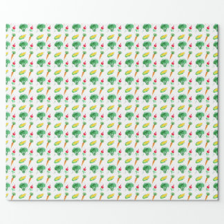 Vegetable seamless watercolor pattern wrapping paper